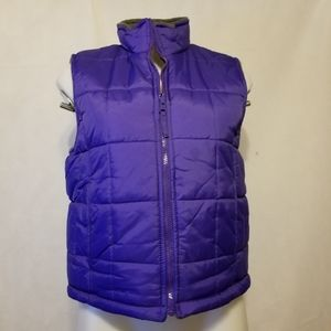 BIG CHILL Purple and Gray  reversible vest 14/16